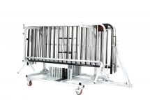 7.5 ft Classic Steel Barricade | 25 Pack-Cart Option