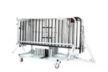 8 ft Linemaster Crowd Control Barrier | 25 Pack-Cart Option