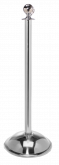 Ball Top Stainless Steel Stanchion Post w/ Dome Base