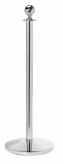 Ball Top Stainless Steel Stanchion Post w/ Sloped Base