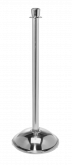 Crown Top Stainless Steel Stanchion Post w/ Dome Base