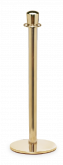 Crown Top Brass Stanchion Post w/ Sloped Base
