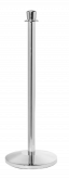 Crown Top Stainless Steel Stanchion Post w/ Sloped Base