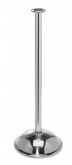 Flat Top Stainless Steel Stanchion Post w/ Dome Base