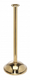 Flat Top Brass Stanchion Post w/ Dome Base