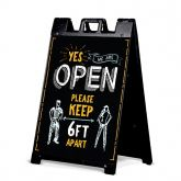 """18""""W x 24""""H Signicade A-Frame w/ Sign 