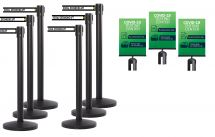 Covid-19 Safety Series | (6) Pack with (3) Sign Holder Bundle