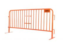 Orange Powder-Coated Barricade