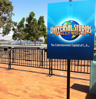 Universal Studio - Black Powder Coated Barrier
