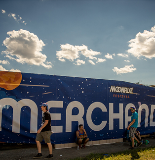 MoonRise Festival - Merch Building Banner