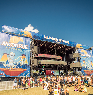 MoonRise Festival - Stage Scrims (Luna Stage)