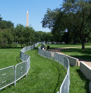 Steel Barricades at the Capitol