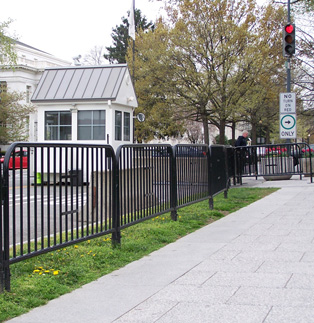 Black Powder Coated Barriers