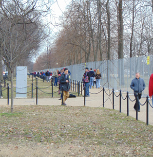 Trump's Inauguration - Fence Panel Line