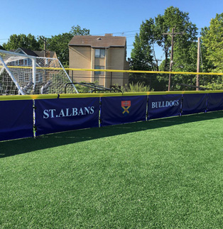 St Albans Baseball field - Vinyl Solid Barricade Cover