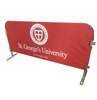 St Georges University Poly Solid Barricade Cover