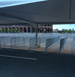 Citi Field - Classic Steel Barricade Entrance Line