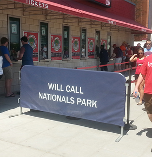 Nationals Stadium - Steel Barricade with Vinyl Solid Barricade Cover