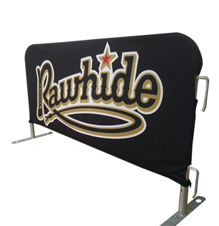 Rawhide Baseball - Poly Fitted Barricades Cover