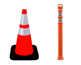 traffic cones and delineators