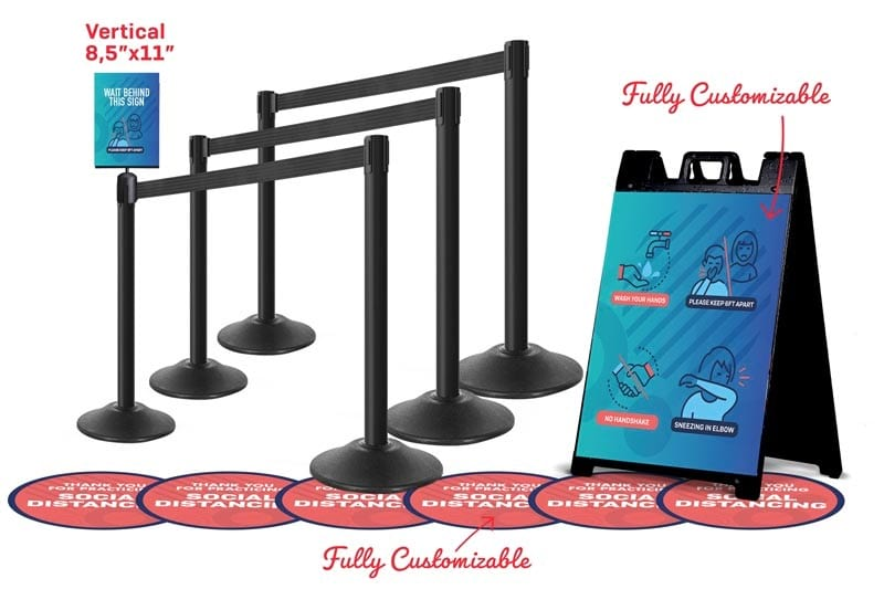 Social Distancing Stanchions Package Event Bundle