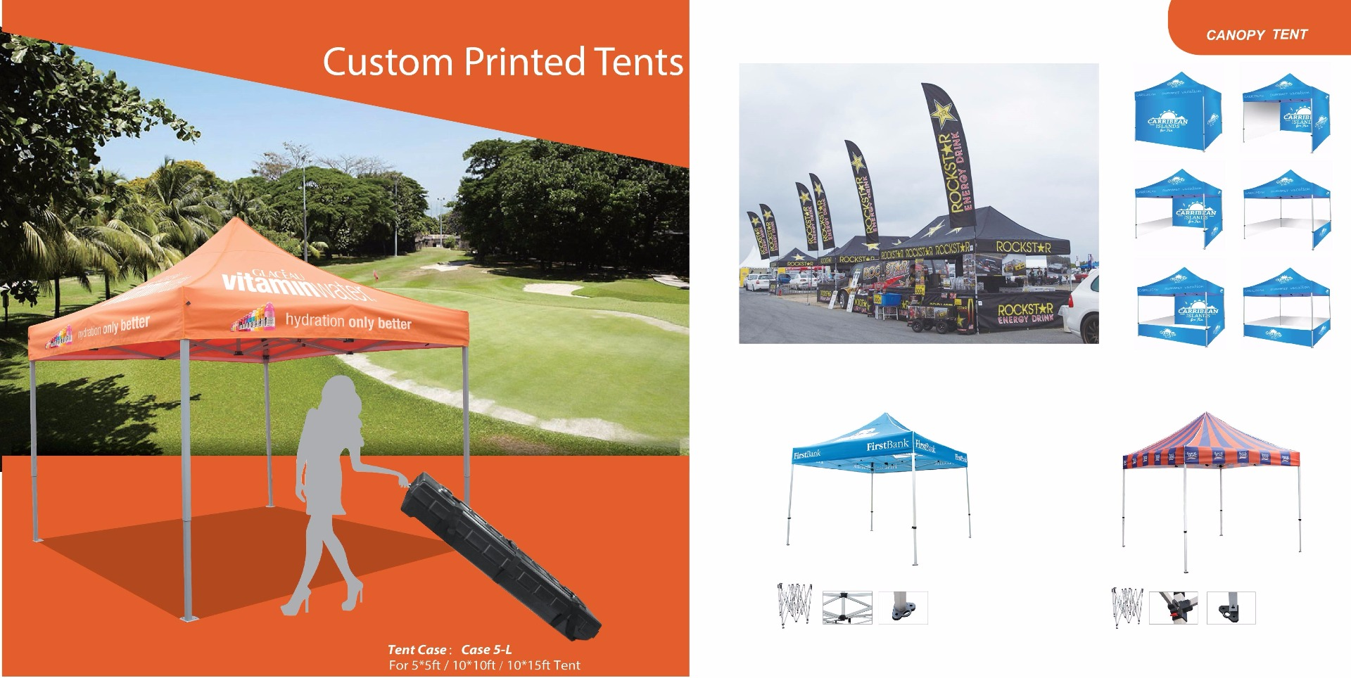 custom printed event tents