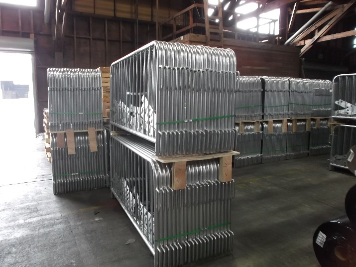Steel Barriers Warehouse