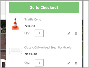 check cart page